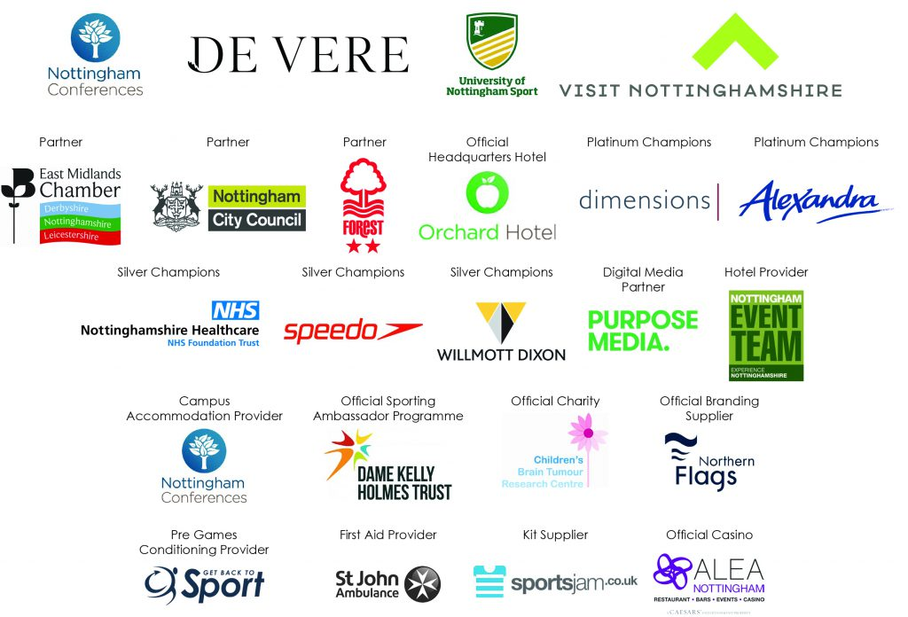Official Games Sponsors & Supporters